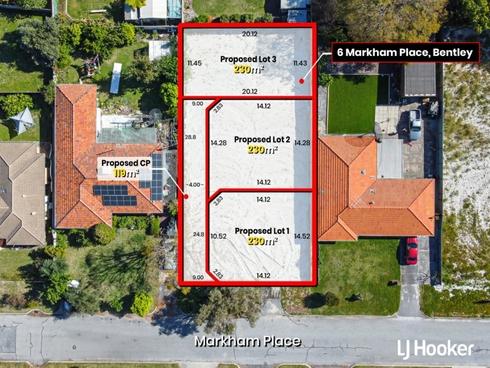 Lot 1, 2 & 3/6 Markham Place Bentley, WA 6102